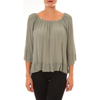 Clothing Women Tops / Blouses By La Vitrine Carla Conti Blouse Giulia vert d'eau Green