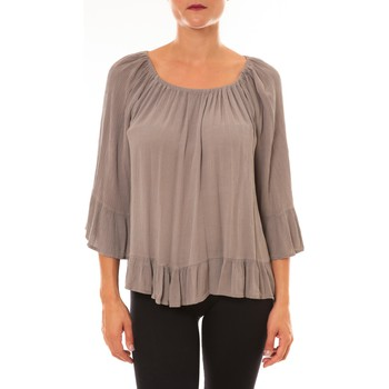 Clothing Women Tops / Blouses By La Vitrine Blouse Giulia taupe Brown