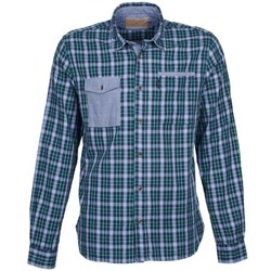 Clothing Men Long-sleeved shirts Chevignon CL NAVY DOUBLE Green