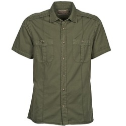 Clothing Men short-sleeved shirts Chevignon C MILITARY TWIL Green