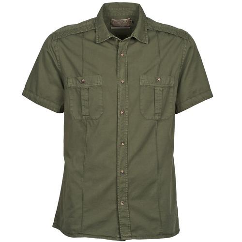 Clothing Men short-sleeved shirts Chevignon C MILITARY TWIL Green