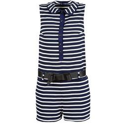 Clothing Women Jumpsuits / Dungarees Petit Bateau FAITOUT Marine / White