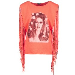 Clothing Women Tops / Sleeveless T-shirts Brigitte Bardot BB44075 CORAL