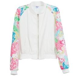Clothing Women Jackets Brigitte Bardot BB44045 White / Multicolour