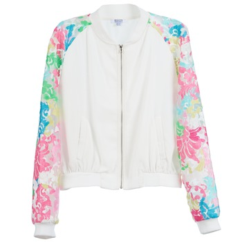 Clothing Women Jackets Brigitte Bardot BB44045 White / Multicoloured
