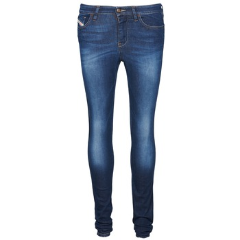 Clothing Women slim jeans Diesel SKINZEE Blue