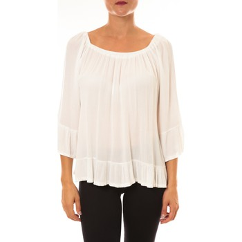 Clothing Women Tops / Blouses By La Vitrine Blouse Giulia blanc White