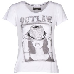 Clothing Women short-sleeved t-shirts Religion B123OLT45 White