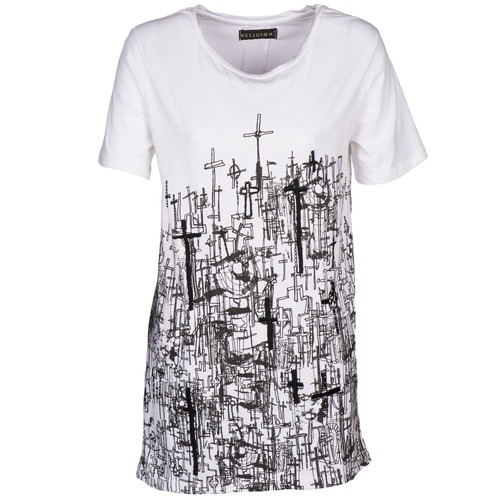 Clothing Women short-sleeved t-shirts Religion B123CND13 White