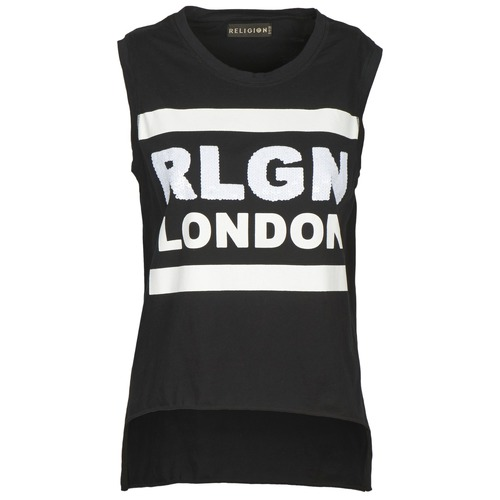 Clothing Women Tops / Sleeveless T-shirts Religion B123RGT41 Black