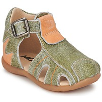 Shoes Boy Sandals Mod'8 ALUCINE Green / Orange