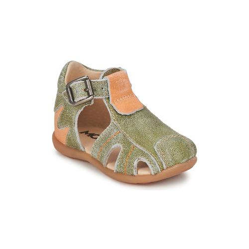 Shoes Boy Sandals Mod'8 ALUCINE Green / Orange
