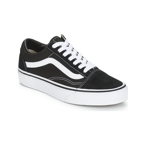 Vans OLD SKOOL Black   White - Free delivery with Spartoo UK ... 88434b0291