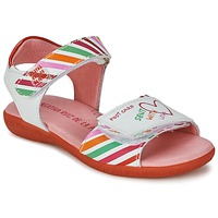 Shoes Girl Sandals Agatha Ruiz de la Prada CAZOLETA White / Multi