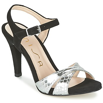 Shoes Women Sandals Unisa WARIAN Black / Silver