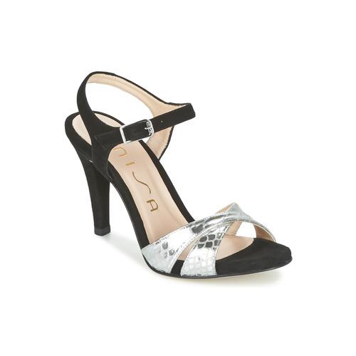 Shoes Women Sandals Unisa WARIAN Black / Silver