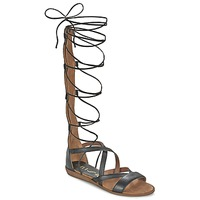 Shoes Women Sandals Unisa ANDA Black