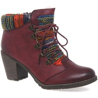 Shoes Women Ankle boots Rieker Caledonia Womens Ankle Boots red