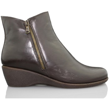 Shoes Women Ankle boots The Flexx FLEXX wedge booty woman komodo BROWN
