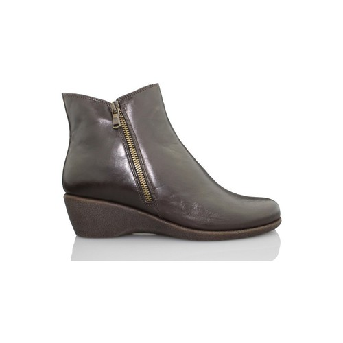 Shoes Women Ankle boots Flexx wedge booty woman komodo BROWN