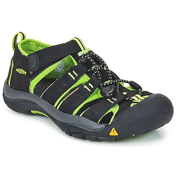 Shoes Children Outdoor sandals Keen Newport H2  BLACK / LIME / GREEN
