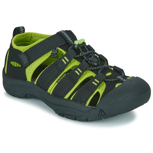 Shoes Children Outdoor sandals Keen Newport H2 Black / Green