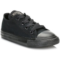 Shoes Boy Low top trainers Converse Infant Black Monochrome All Star Low Trainers Black