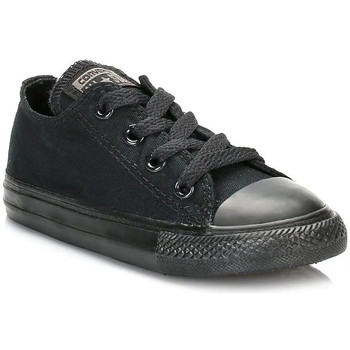 Converse  Infant Black Monochrome All Star Low Trainers  boyss Childrens Shoes (Trainers) in black