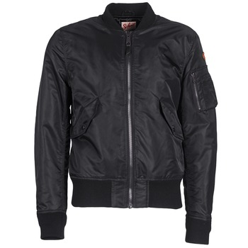Clothing Men Jackets Schott BOMBER BY SCHOTT Black