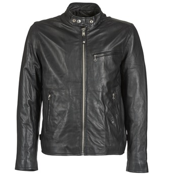 Clothing Men Leather jackets / Imitation leather Schott BLODOU Black