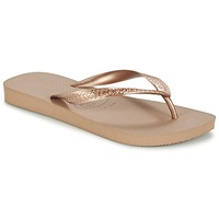 Shoes Women Flip flops Havaianas TOP METALLIC Pink / Gold