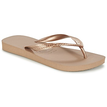 Shoes Women Flip flops Havaianas TOP METALLIC Rose Gold