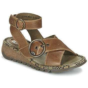 Shoes Women Sandals Fly London TUBB609FLY CAMEL