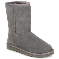 Shoes Women Mid boots UGG CLASSIC SHORT Grey