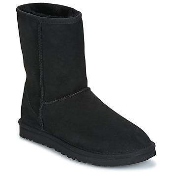Shoes Women Mid boots UGG CLASSIC SHORT BLACK