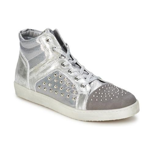Shoes Women Hi top trainers Hip 90CR Silver croco