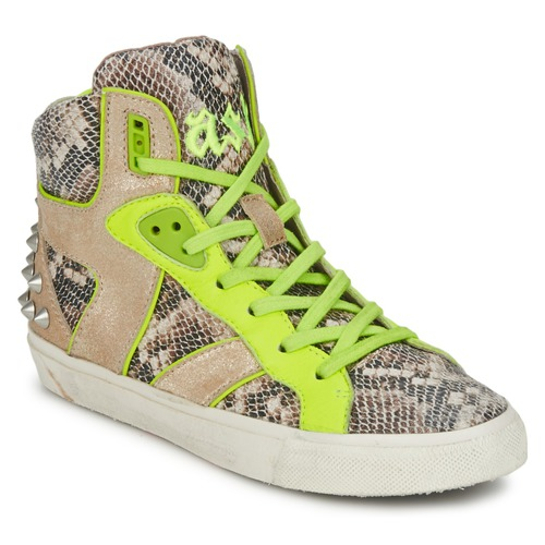 Shoes Women Hi top trainers Ash SONIC Python / Yellow