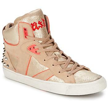 Shoes Women Hi top trainers Ash SPIRIT Beige / Pink