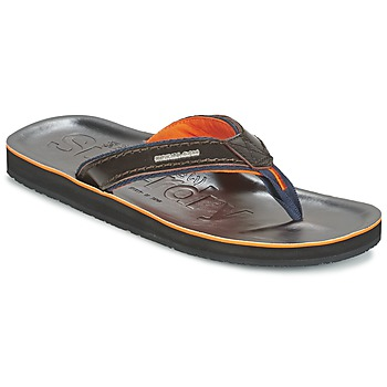 Shoes Men Flip flops Superdry KRUGER TOE POST DARK / Brown