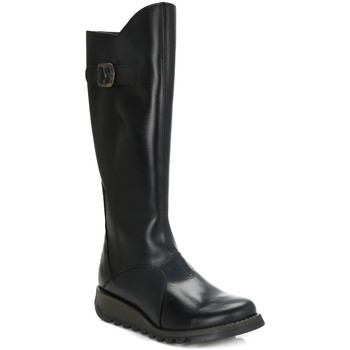 High boots Fly London Womens Black Mol 2 Leather Boots