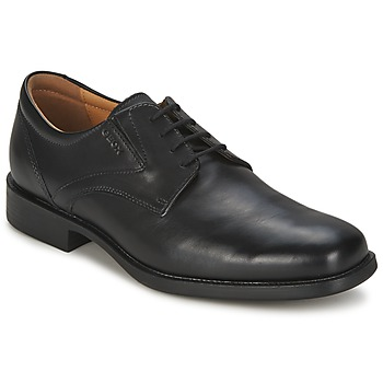 Shoes Men Derby Shoes Geox FEDERICO  BLACK