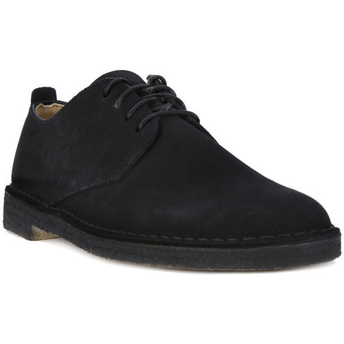 Shoes Men Brogues Clarks DESERT LONDON BLACK Nero