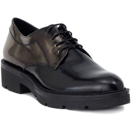 Shoes Women Brogues Momenti SPAZZOLATO NERO     86,6