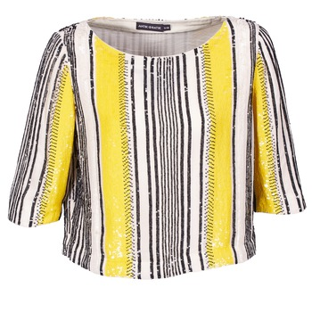 Clothing Women Tops / Blouses Antik Batik ZABOU Yellow / White / Black