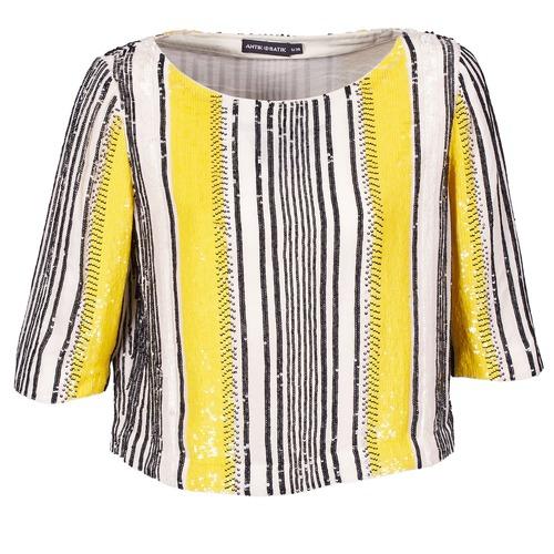 Clothing Women Tops / Blouses Antik Batik ZABOU Yellow / White / Black