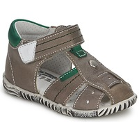 Shoes Boy Sandals Primigi (enfant) QUINCY Grey / Green