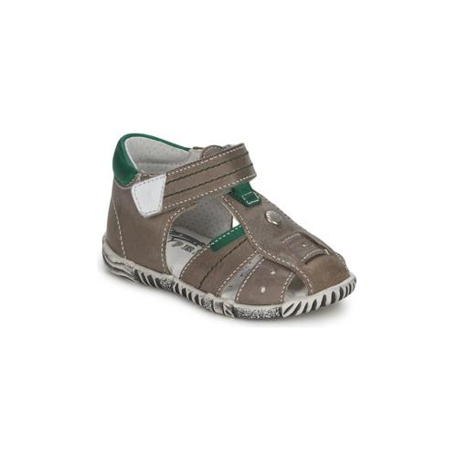 Shoes Boy Sandals Primigi (enfant) QUINCY Grey / Green