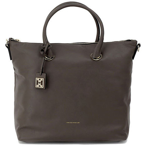Bags Women Shopping Bags / Baskets Coccinelle BLANCHE TAUPE Multicolore
