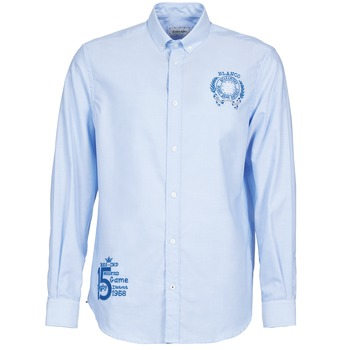 Clothing Men long-sleeved shirts Serge Blanco ANTONIO Blue