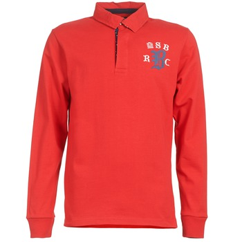 Clothing Men long-sleeved polo shirts Serge Blanco MATO Red